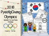 2018 Winter Olympic Games Alphabet Cut & Paste