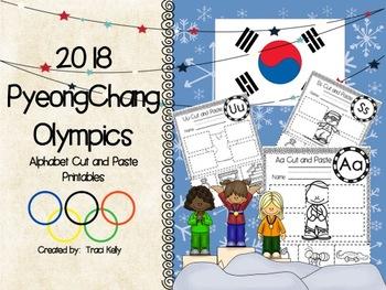 2018 Winter Olympic Games Alphabet Cut & Paste