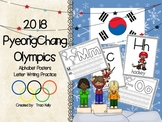 2018 Winter Olympic Games Alphabet Posters & Letter Practice Pages