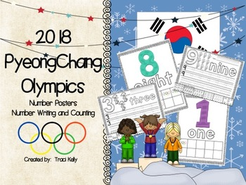 2018 Winter Olympic Games Number Posters & Number Practice Pages