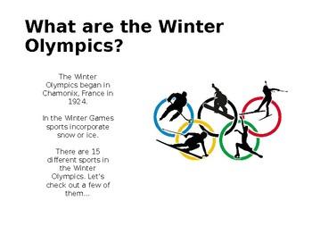 2018 Winter Olympic Presentation