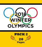 2018 Winter Olympics Activity Pack 2