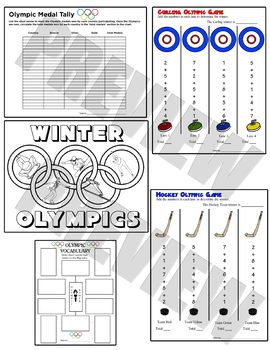 2018 Winter Olympics Activity Pack 3