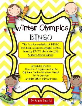 Winter Olympics 2018 BINGO! Olympic Trivia and Fact Game