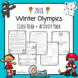2018 Winter Olympics 2018 Close Read + Activity Pack