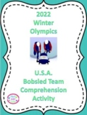 2018 Winter Olympics, Comprehension Activity, U.S. Bobsled Team