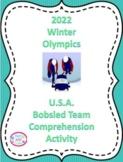 2018 Winter Olympics, Comprehension Activity, U.S. Bobsled Team