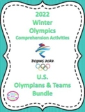 2018 Winter Olympics Comprehension Passages, U.S. Olympians & Teams Bundle!