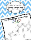 2018 Winter Olympics Crossword Puzzle