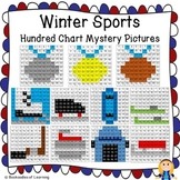 2018 Winter Olympics Hundred Chart Mystery Pictures w/ Number Cards: 15 Pictures