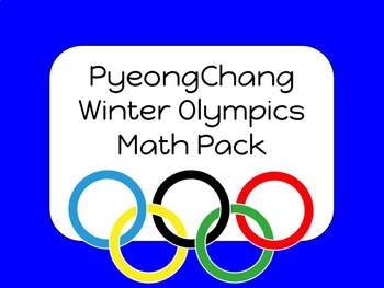 2018 Winter Olympics Math Pack
