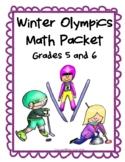 2018 Winter Olympics Math Packet