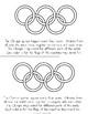 2018 Winter Olympics No Prep Activity Pack