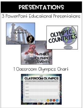 2018 Winter Olympics Unit: Country Research Flipbook and Classroom Olympics