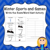 2018 Winter Olympics Write the Room/Word Hunt: Labeled and Blank Versions