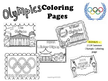 2018 Winter Olympics coloring pages by Teaching Kiddos 1 TpT
