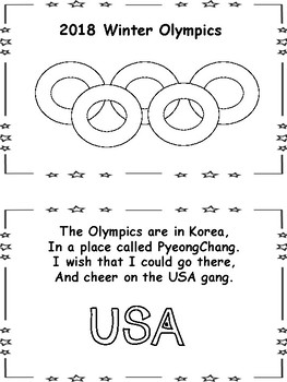 2018 Winter Olympics in the Primary Classroom