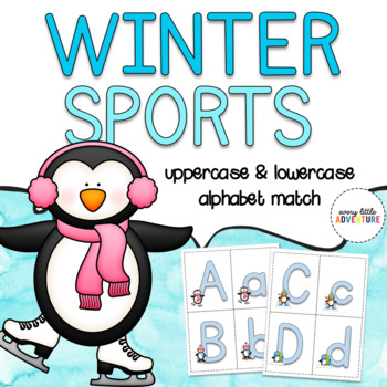 2018 Winter Sports Penguins Alphabet Match | Dollar Deal