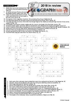 2018 Year in Review Crossword Puzzle