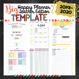2019-20 BIG Happy Planner Teacher Template {+BONUS PAGES!!}