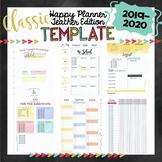2019-20 CLASSIC Happy Planner Teacher Template {+BONUS PAGES!!}