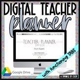 2019/20 Digital Teacher Planner on Google Slides - Simple Gray Style