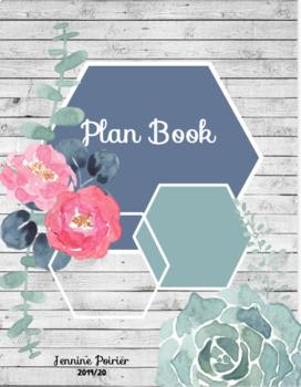 2019/20 Teacher Planner Binder Floral Succulent