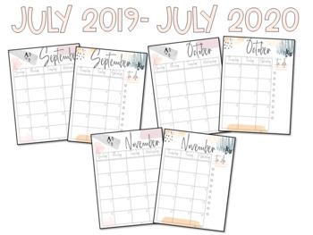 2019-2020 Abstract Teacher Planner