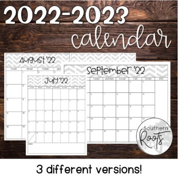 2019-2020 Calendar Happy Planner Friendly
