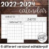 2021-2022 Calendar - Happy Planner Friendly