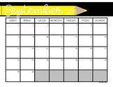 2019-2020 Calendar Printable (Blank)