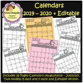 2019-2020 Calendar Printable and Editable (School Designhcf)
