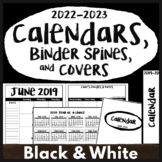2019-2020 Calendar Printables, Monthly Calendar 2019, 2020 Happy Planner Covers