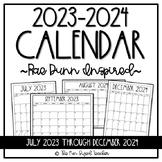 2020 - 2021 Calendar - Rae Dunn Inspired