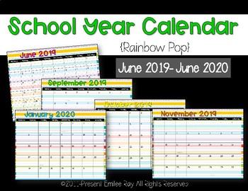 2019 Calendar {Rainbow Pop}