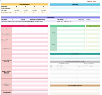 2019 - 2020 Digital Lesson Plan Organizer