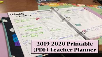photograph relating to Free Printable Teacher Planner Pdf identify Printable 2019-2020 Trainer Planner