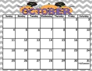 2019-2020 Editable Calendar