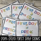 First Day of School Signs 2019-2020