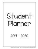 2019 - 2020 High School Student Planner Pages