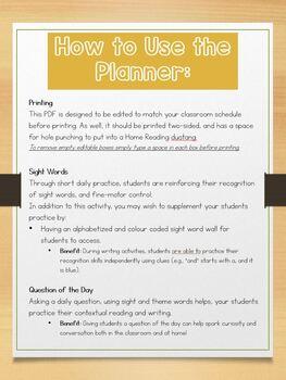 2019-2020 Home Reading Planner, September - June