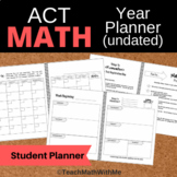 One Year Math Prep Student Planner (undated) - ACT Prep -