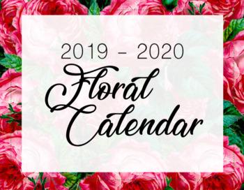 2019-2020 Printable Floral Calendar
