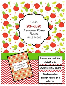 image regarding Apple Pattern Printable referred to as 2019-2020 Printable Planner Template *Apple Concept*