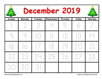 December 2020 Tracing Calendar The BEST 2019 2020 School Year Calendar for Patterns and Tracing