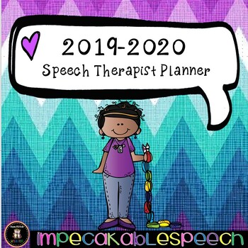 2019-2020 Speech Therapist Planner