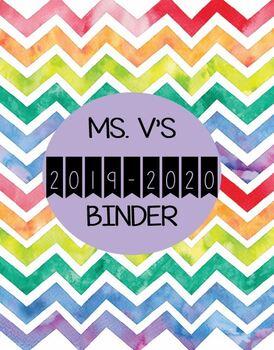 2019-2020 Teacher Binder/Planner
