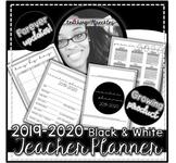 2019-2020 Teacher Planner   Black & White   FOREVER UPDATES   GROWING Planner 