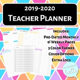 2019-2020 Teacher Planner | Pre-dated, Ideal for Secondary, 3 Color Themes