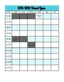 2019-2020 Weekly Pacing Planner